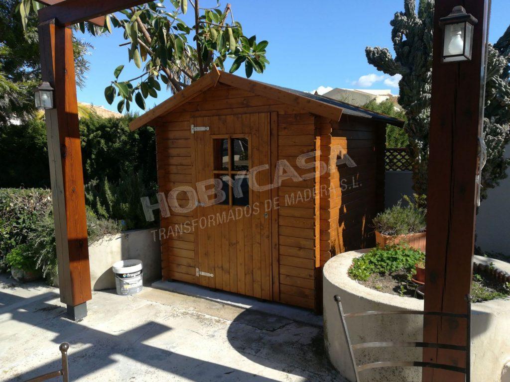 Casetas de madera jardín Sevilla Londra