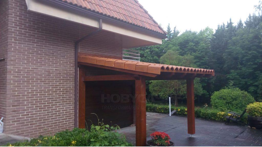 Tipos porches de madera Modern Estibaliz