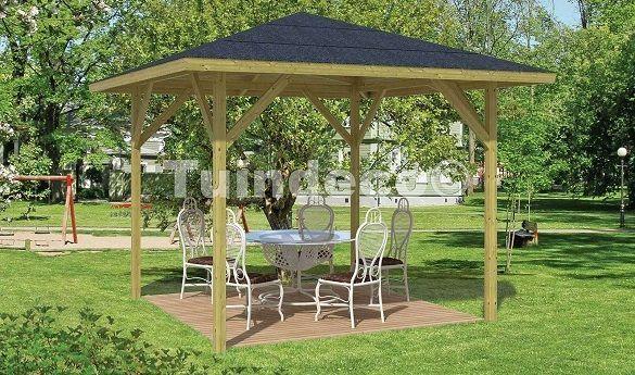 Cenadores y p rgolas de madera un comedor al aire libre for Jardin al aire libre de madera deco