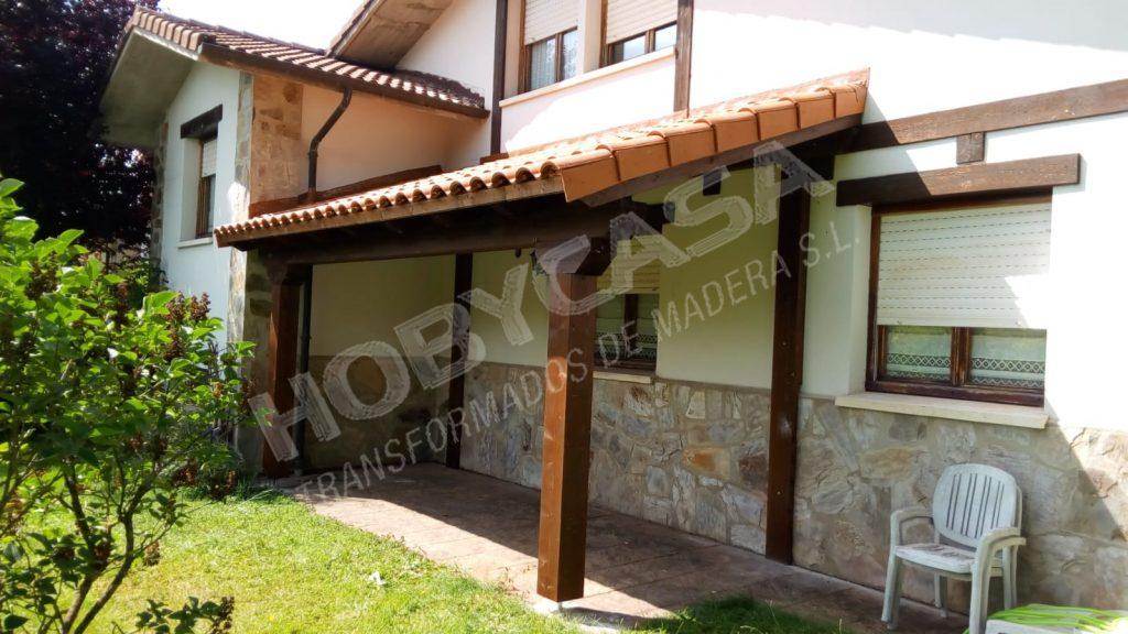 Tipos porches de madera Rustico Sarria