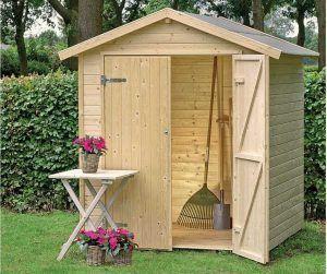 orden en el jardin con casetas de madera Hobycasa modelo narciso