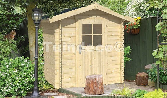 orden en el jardin con casetas de madera Hobycasa modelo richard
