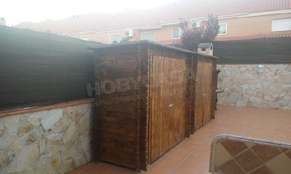 Armarios de madera para terrazas Kerti lado