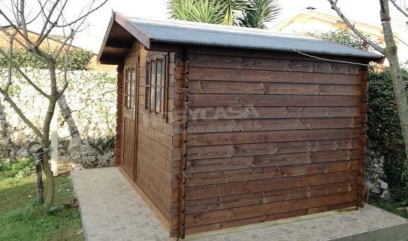 Autoconstrucción de una casa de madera Lateral