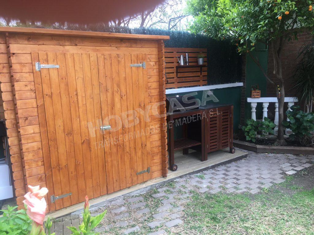 Armarios de madera para terrazas Kerti frente