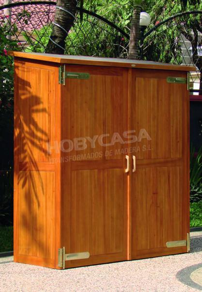 Armarios de madera para terrazas Armario tropical