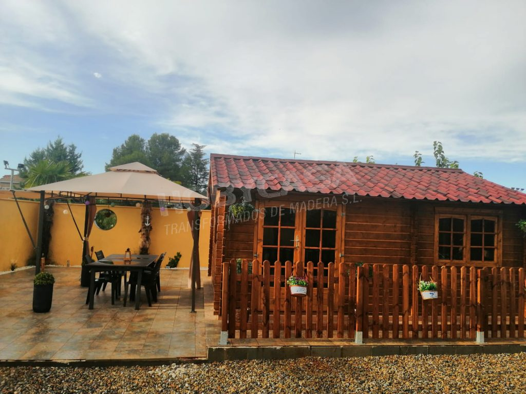Porches de madera para mobil home Big Arkansas