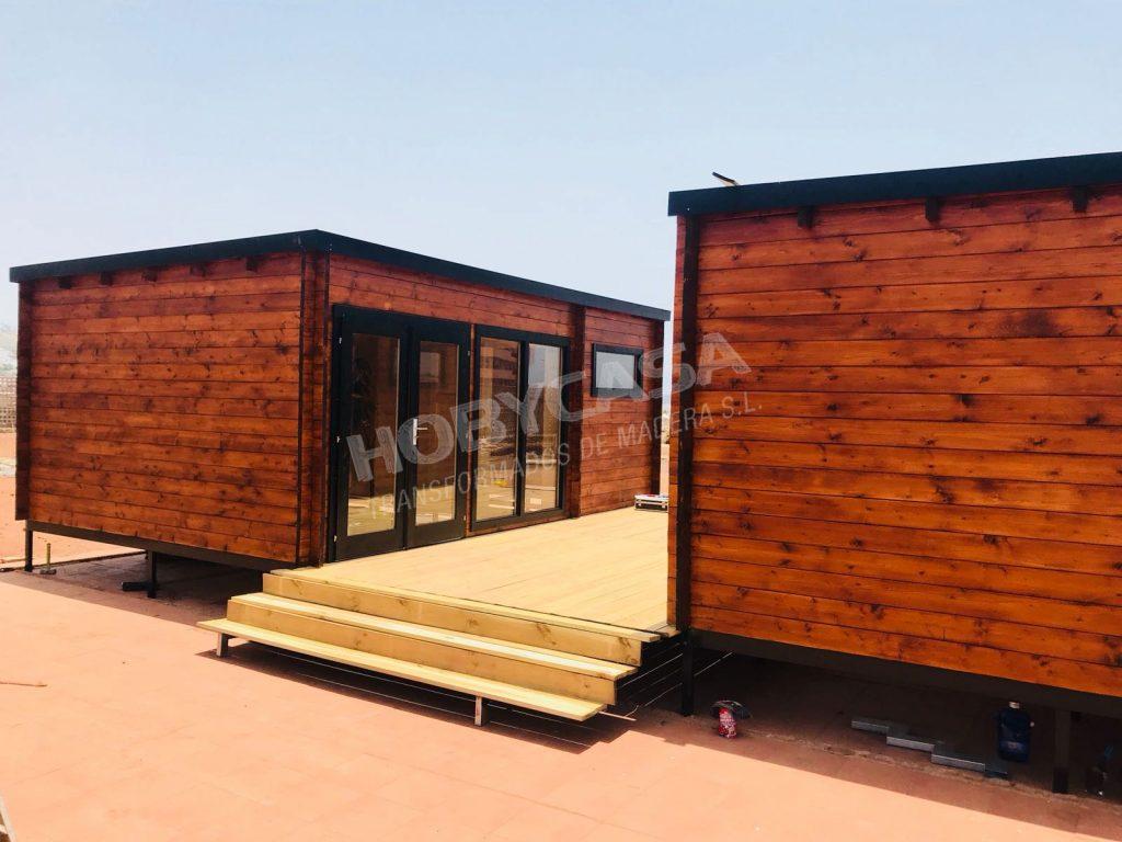 Porches de madera para mobil home Flow