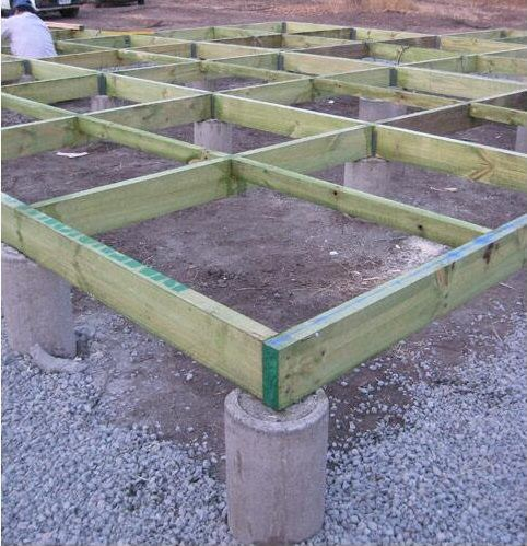 Bases de cimentaci n para casas de madera tipos de suelo for Colocar baldosas sobre hormigon