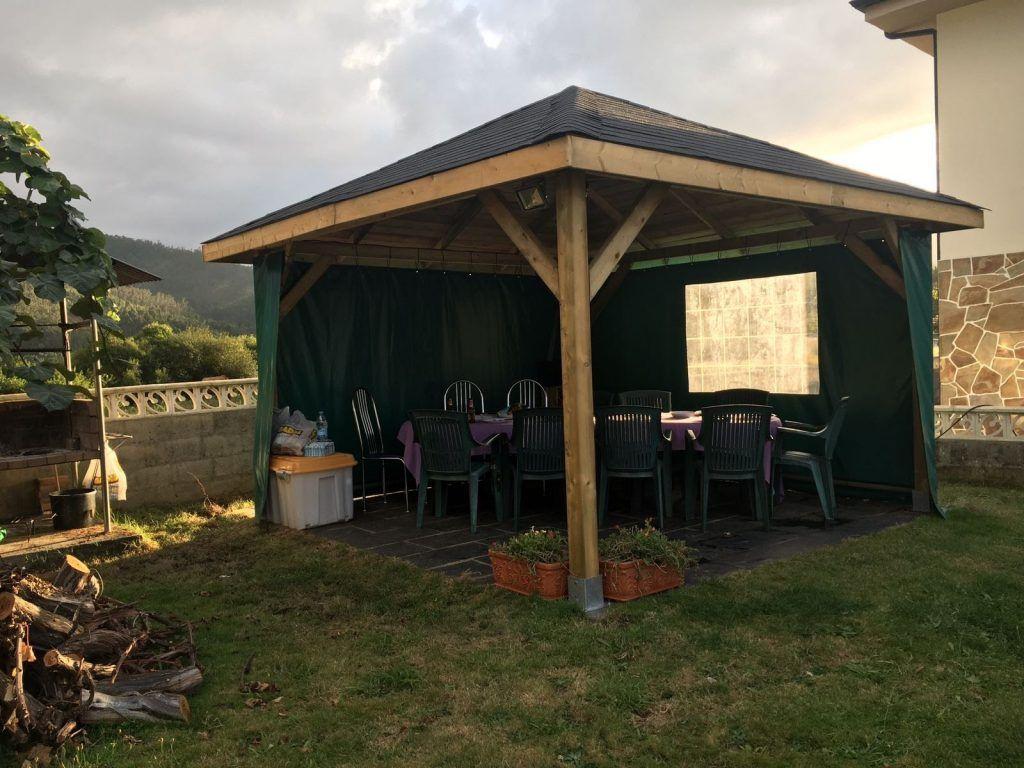 Cenadores de madera - casas de clientes