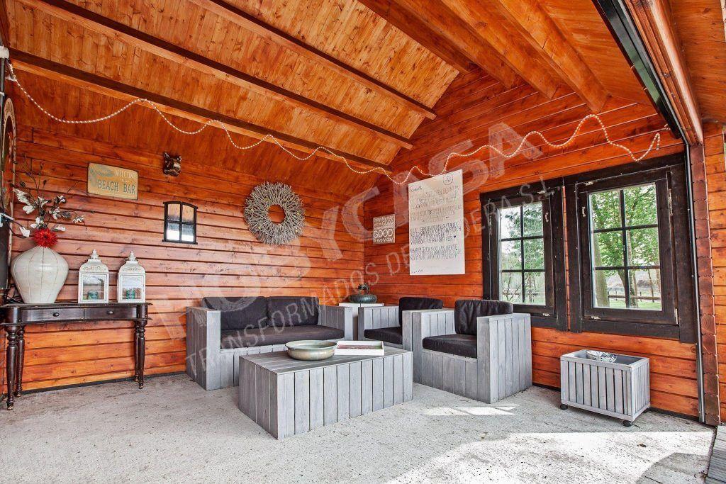 Ideas para pintar casas de madera ✔️