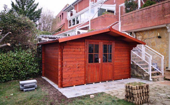 Casetas de madera impregnadas - casas de clientes
