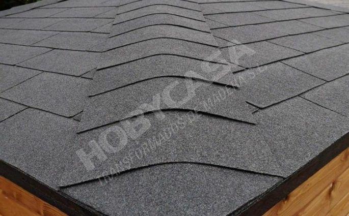 tejados para cabañas de madera tegola negra Emma