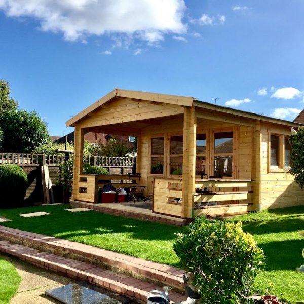 Cabañas de madera con porche adosado - casas de clientes