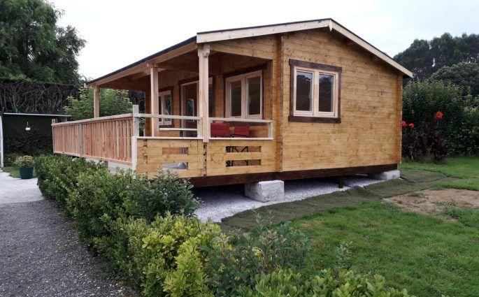 Casas de madera cantabria con el porche al revés