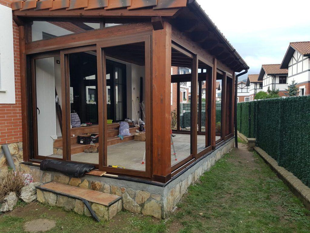 Porches de madera - casas de clientes