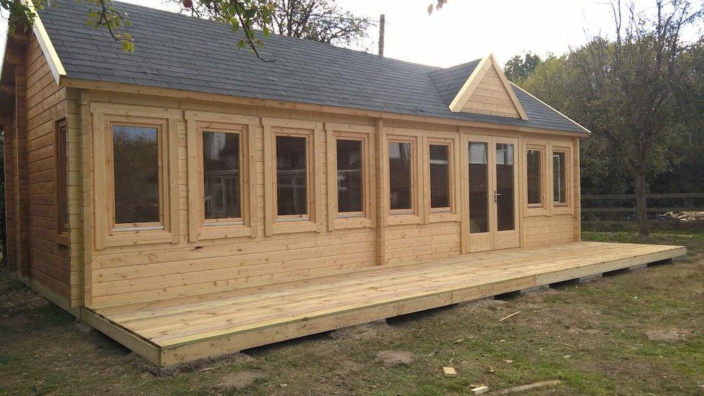 Casas de madera con estancias - casas de clientes