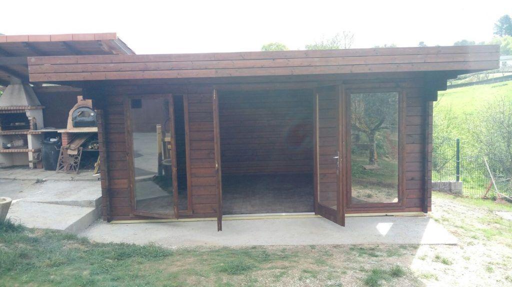 Casas de madera con techo plano en Asturias - casas de clientes
