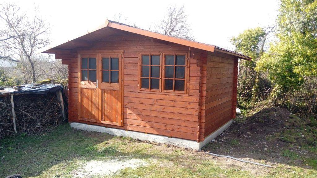 Casetas de madera impregnadas en fábrica - casas de clientes