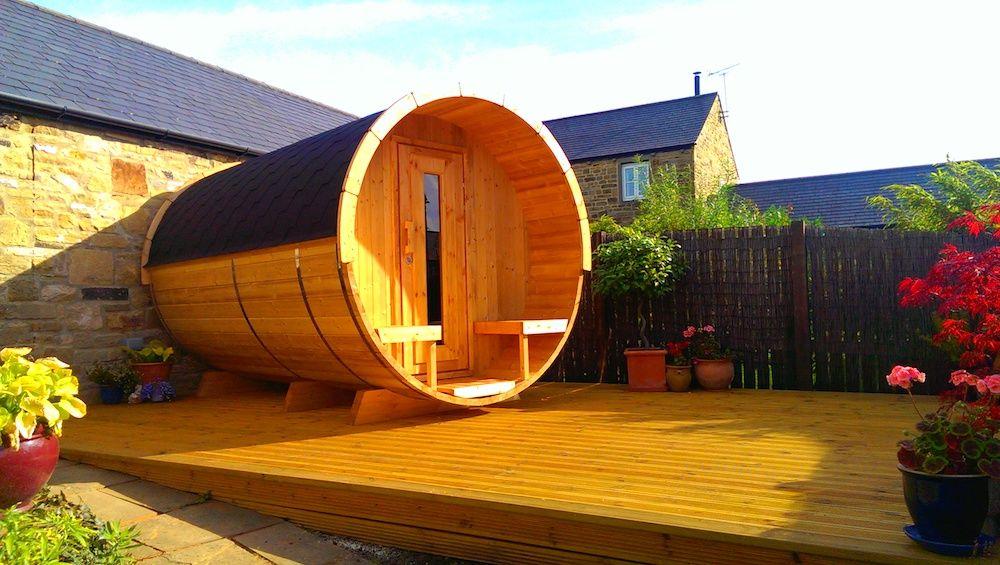 Saunas de madera en Asturias - casas de clientes