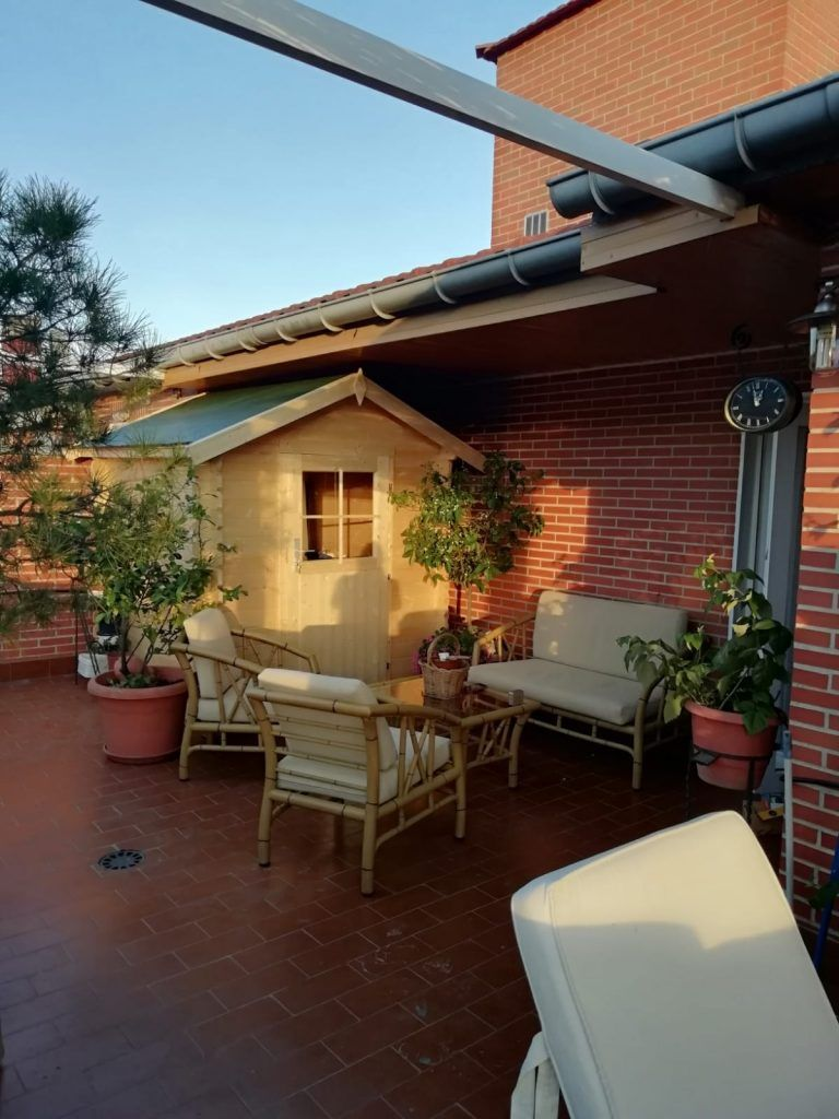 Casetas de madera para terraza - casas de clientes