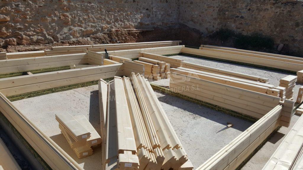 Como montar una casa de madera Piezas