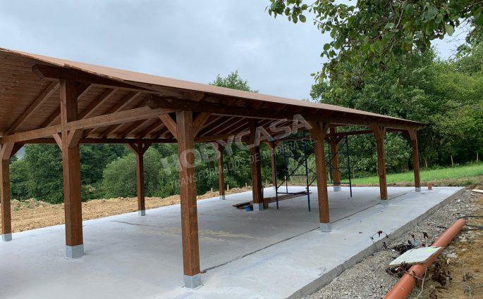 Porches de madera cerrados precios 2 aguas