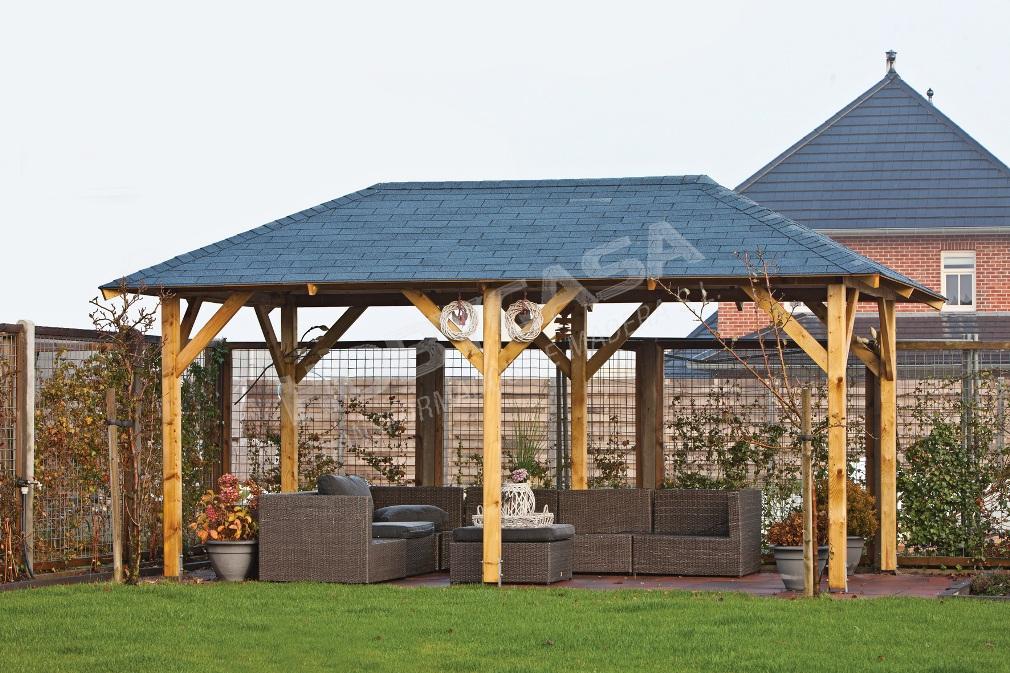 Pergola de madera con techo Superior