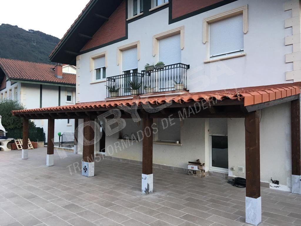 Porches de madera cerrados precios Mendaro