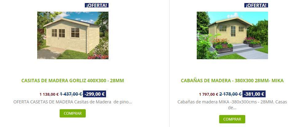 ventajas de comprar una caseta de madera comparativa Mika Gorliz