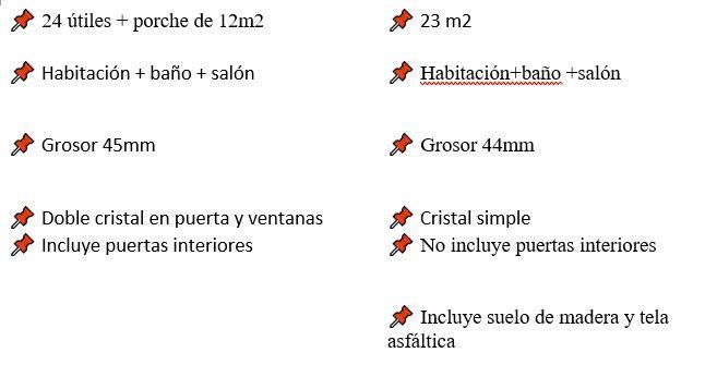diferencias entres modelos de cabañas de madera con habitaciones