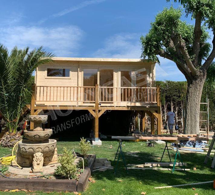 mejor casa de madera Flow elevada