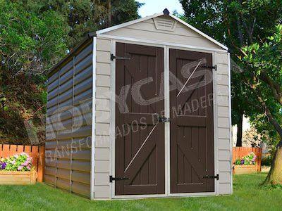 ventajas de comprar una caseta de madera Resina