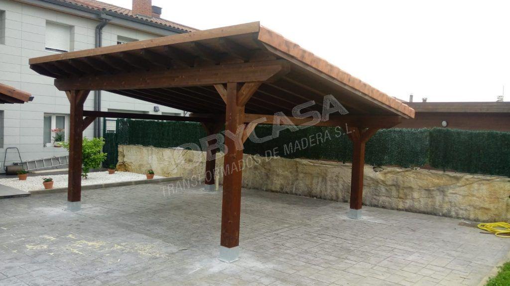Ventajas de comprar una pergola de madera garaje de madera