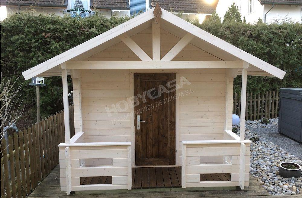 Ventajas de comprar una casita de madera para niños Marii frontal