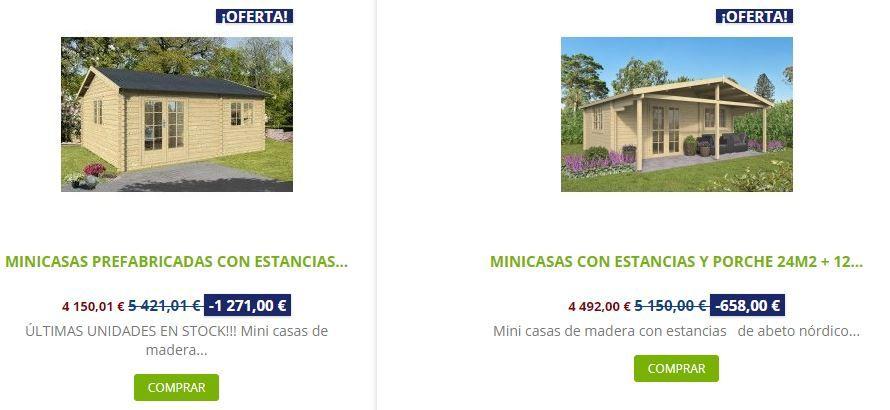 ventajas de comprar mini casas de madera Comparativa Big arkansas Palmar