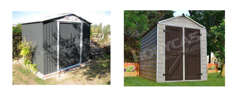 Casetas de jardín de madera a medida comparación