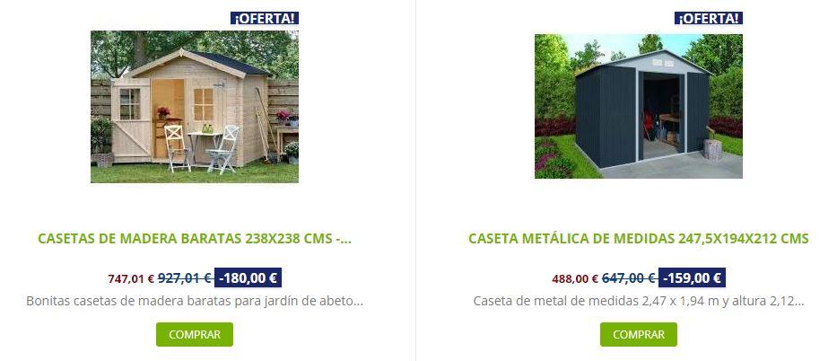 Casetas de madera para jardín a medida comparativa