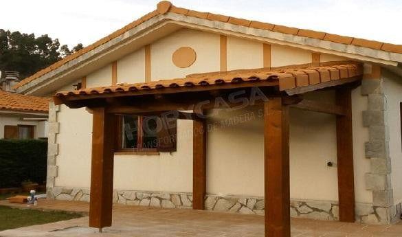 Porches de madera para casas moderno