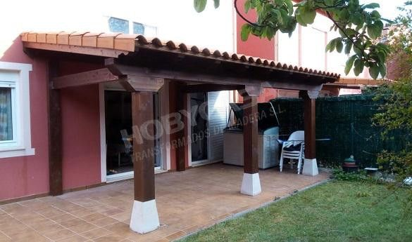 Porches de madera para casas rustico