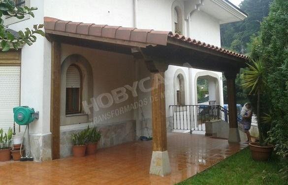 Porches de madera para casas bilbao