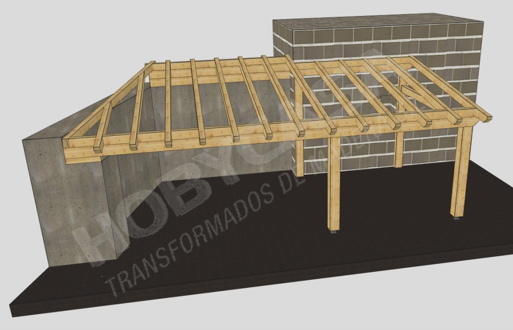 Pergolas y porches de madera en kit Cadwork