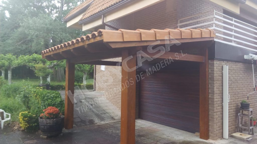 Pergolas y porches de madera en kit Estibaliz