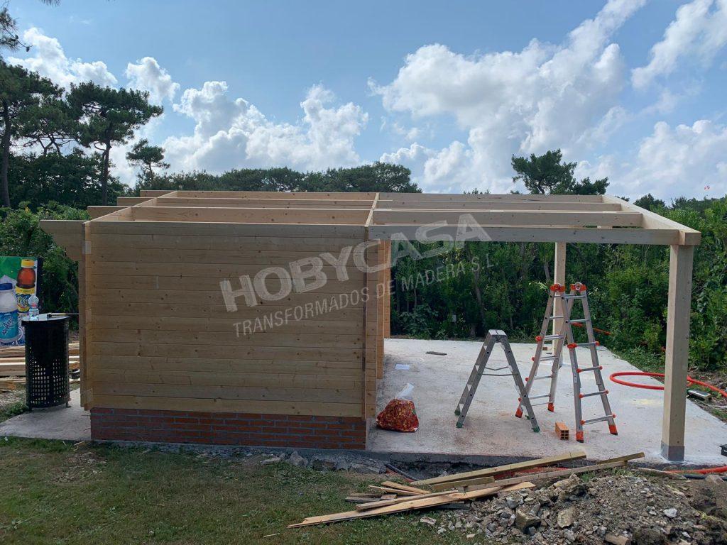 Casas prefabricadas de madera a medida montaje