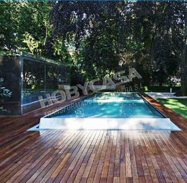 Que el la madera tropical certificada piscina fondo