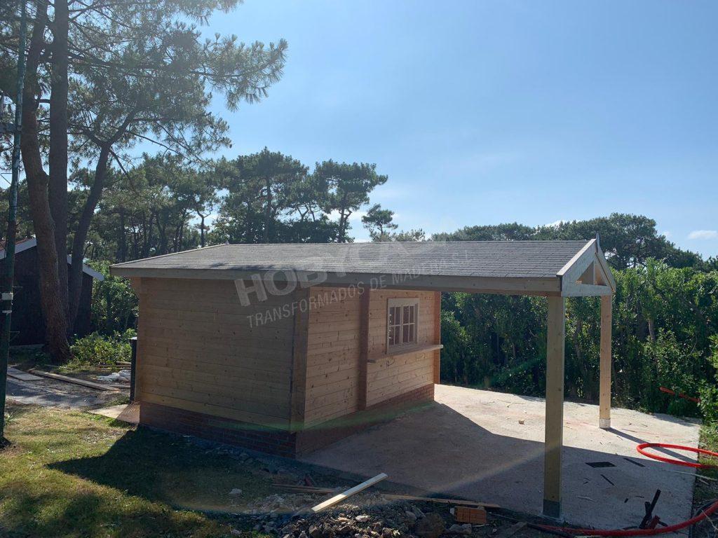 Casas prefabricadas de madera a medida porche