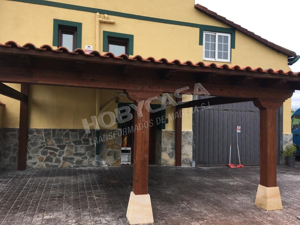 Pergolas y porches de madera en kit frente