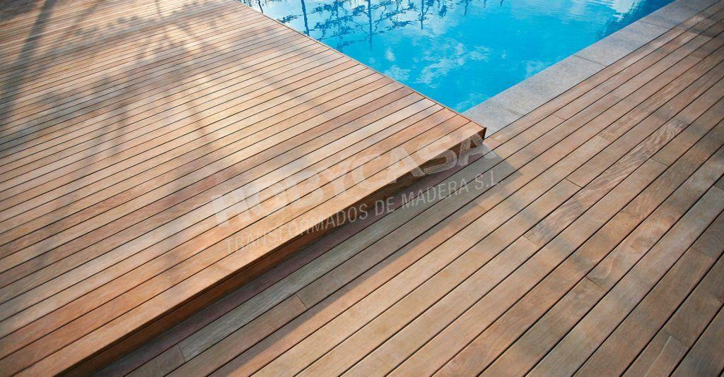 Que el la madera tropical certificada piscina