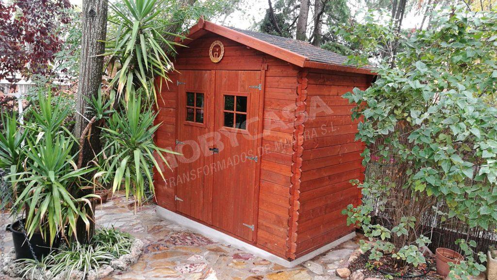 Casas de madera grosor paredes Fina