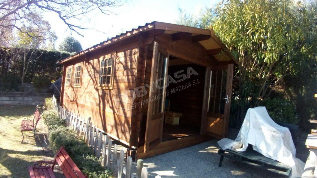 Casas de madera grosor paredes Rick